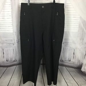 Vincente Nesi Black Cargo Zipper Pocket Pants 36 R